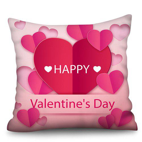 Store Valentine Day Series Polyester Faux Linen Digital Printing Hug Pillowcase