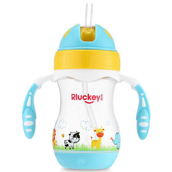 Outfit Rluckey 240ml Slide Cover Binaural Straw Cup Baby Kettle