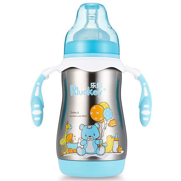 Trendy Rluckey L - BW004 280ml Wide Diameter Double SUS Stainless Steel Insulated Bottle
