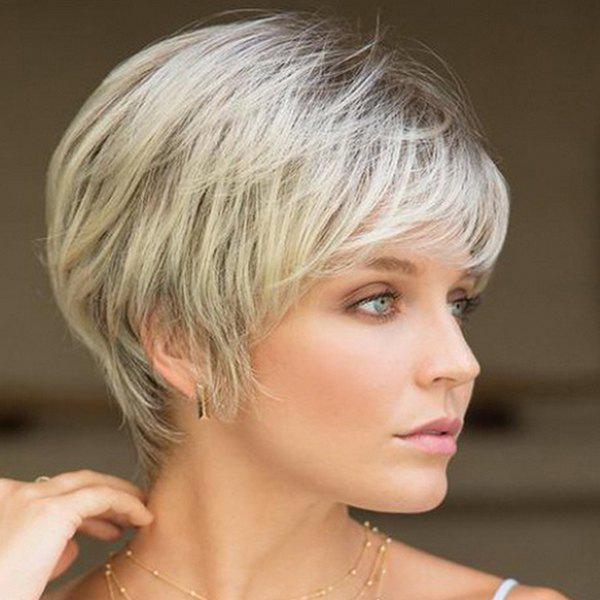 Latest Female Fashion Personality Short Straight Hair Wig