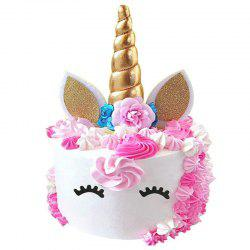 Handmade Gold Unicorn Cake Topper Kit -