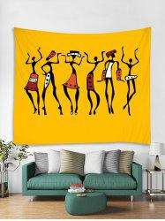 Women Dance Printed Tapestry Art Decoration -