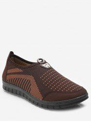 Dot Print Slip On Walking Shoes -