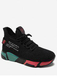 Letter Color Block Running Sneakers -