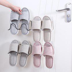 Creative Simple Wrought Iron Double Shelves Paste Wall-mounted Shoes Storage Rack -