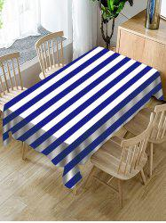 Striped Print Fabric Waterproof Tablecloth -