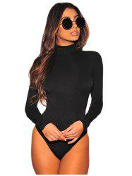 Apricot Long Sleeve Turtleneck Bodysuit -