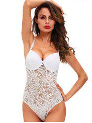 Women Sexy Lace Attractive Exposed Bodysuit -