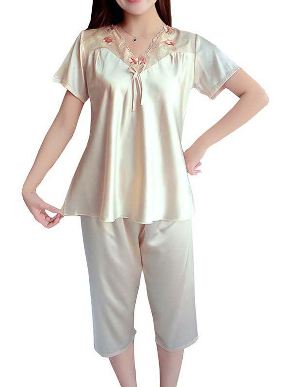 Outfit GH - YX707 Female Casual Loose Chiffon Homewear