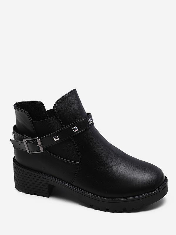Shops Buckle Strap Chelsea Boot with Studs
