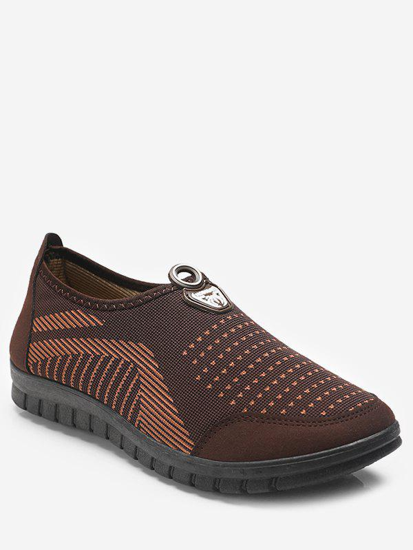 Trendy Dot Print Slip On Walking Shoes