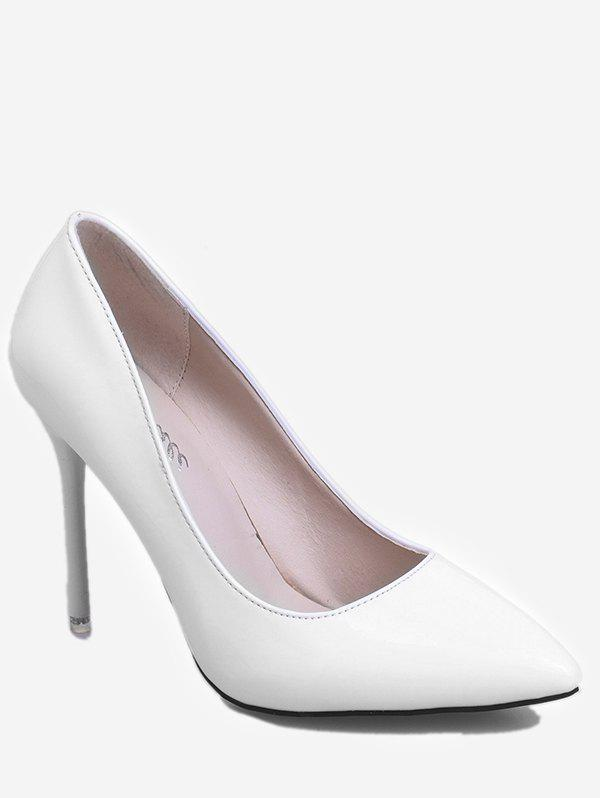 Outfits Patent Leather Pointed Toe Heeled Pumps