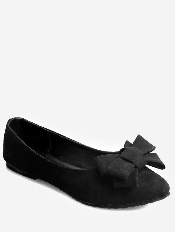 Buy Pointed Toe Bowknot Slip On Flats