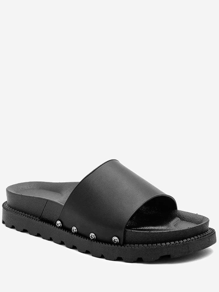 Fashion Solid Color Summer Slides