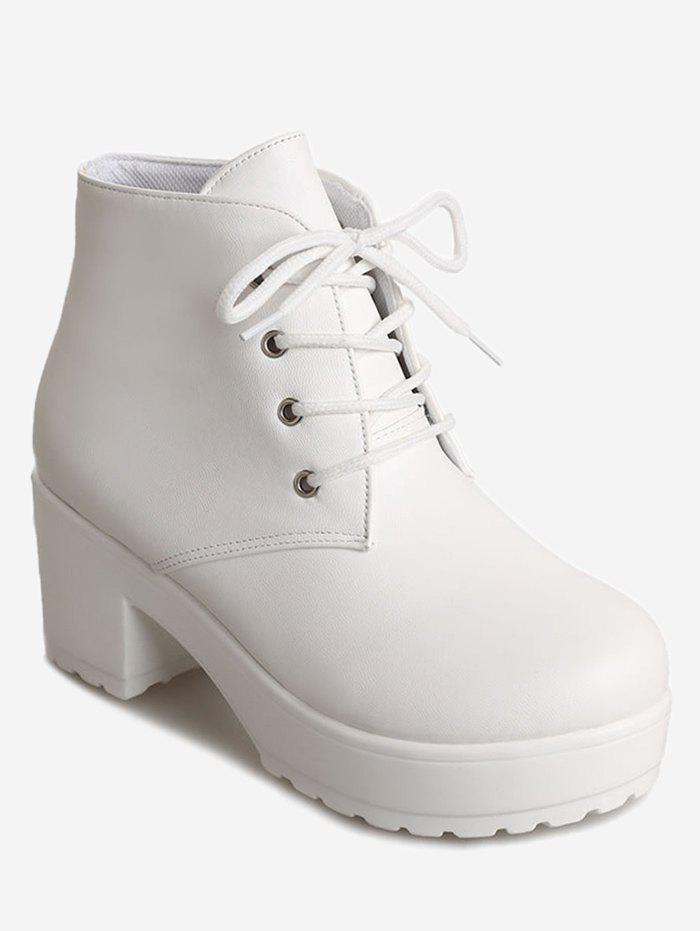 Chic Platform Heeled Ankle Boots