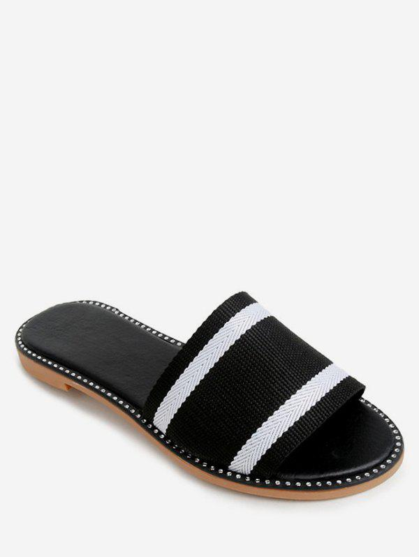 Online Two Tone Striped Slippers