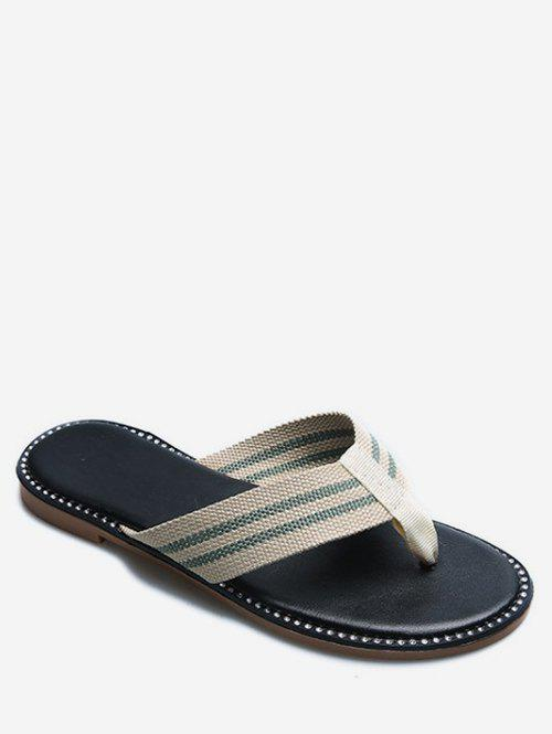 Fancy Striped Flip Flops