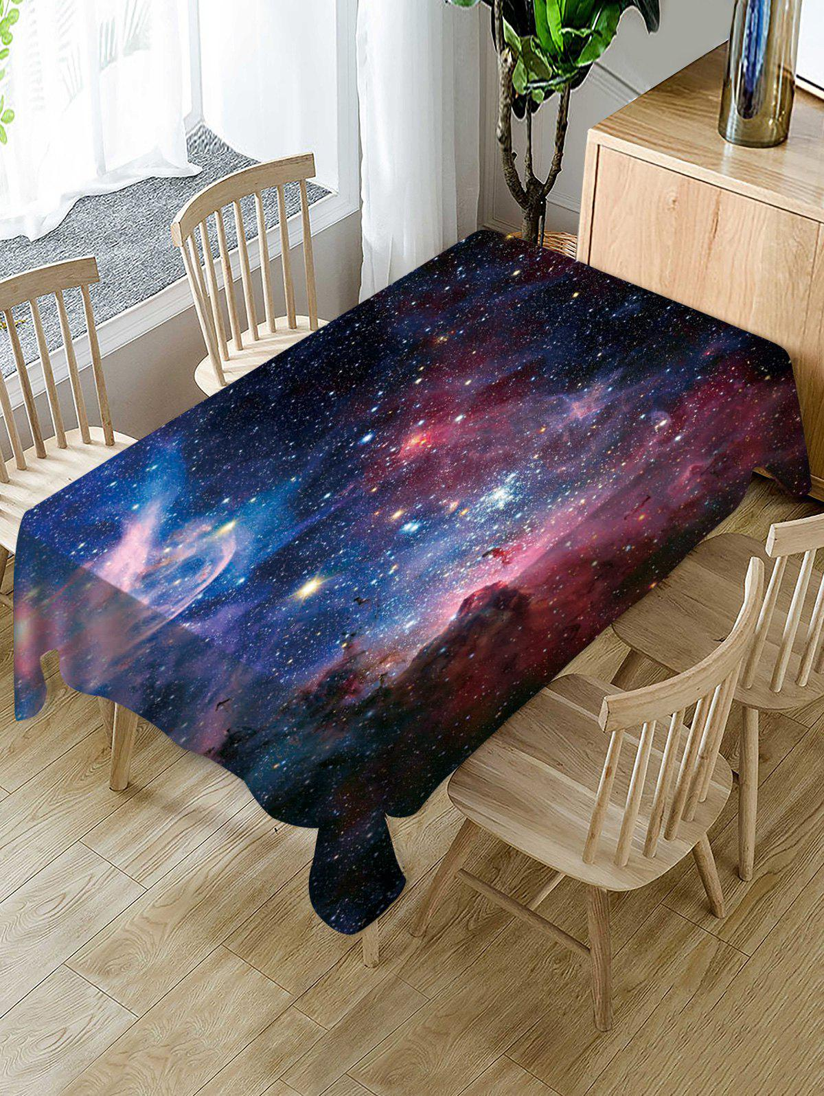 Affordable Galaxy Print Fabric Waterproof Tablecloth
