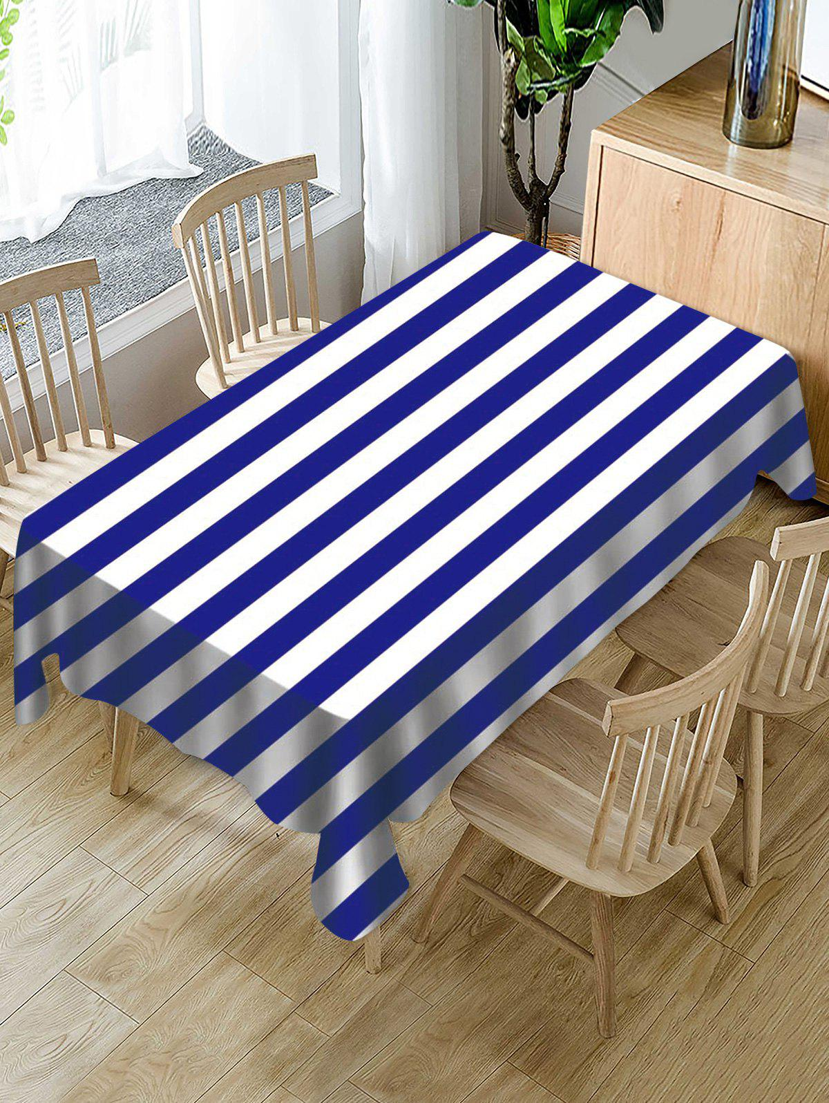 Buy Striped Print Fabric Waterproof Tablecloth
