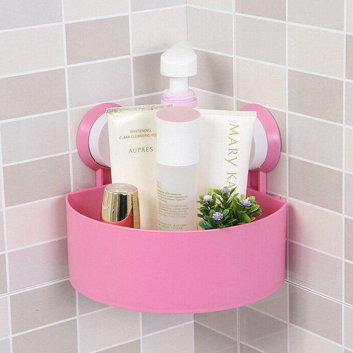 Fancy Triangle Suction Cup Bathroom Storage Rack