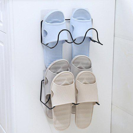 Fancy Creative Simple Wrought Iron Double Shelves Paste Wall-mounted Shoes Storage Rack