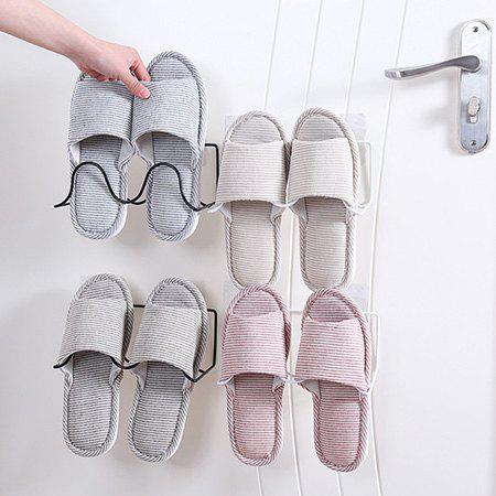 Sale Creative Simple Wrought Iron Double Shelves Paste Wall-mounted Shoes Storage Rack
