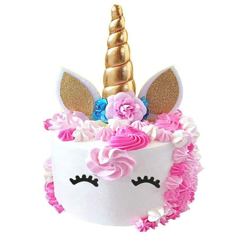 Shop Handmade Gold Unicorn Cake Topper Kit