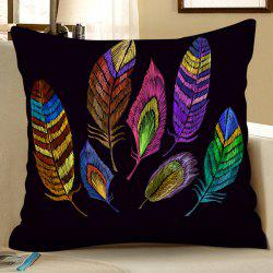 3D Digital Printing Polyester Faux Hemp Pillowcase Square Sofa Cushion Cover -