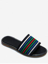 Multicolor Striped Slippers -