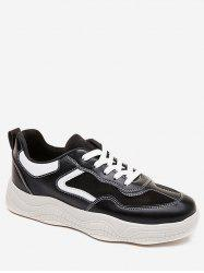Lace Up Patch Skate Shoes -