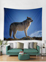 Wolf Printed Tapestry Art Decoration -