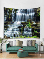 Landscape Waterfalls Printed Tapestry Art Decoration -
