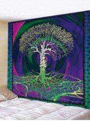 Tree Life Printed Tapestry Art Decoration -