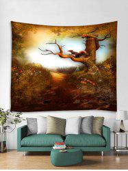 Forest Squirrel Printed Tapestry Art Decoration -