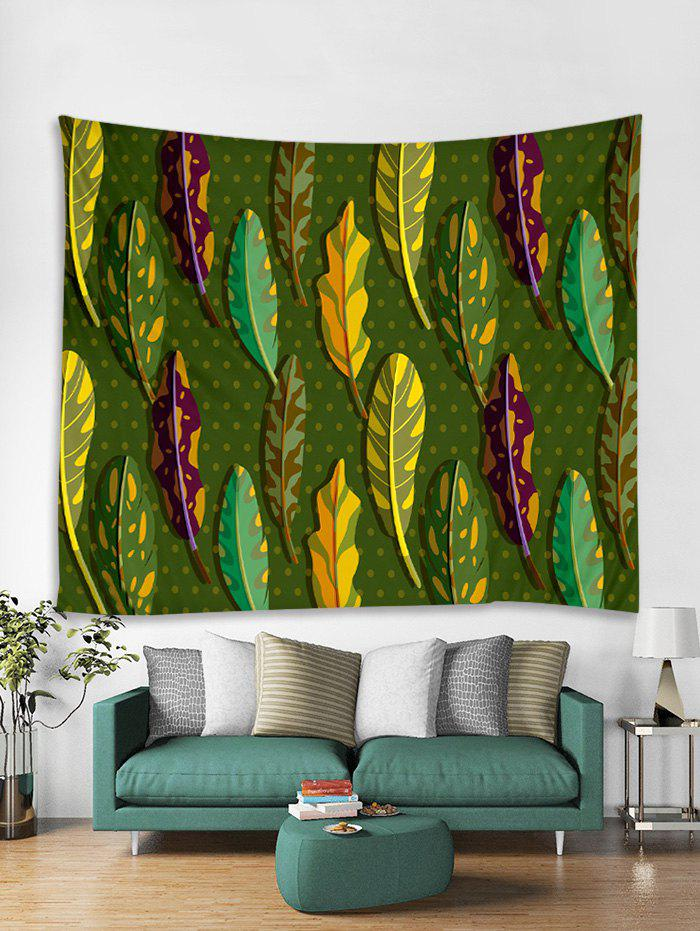 Outfits 3D Leaf Printed Tapestry Art Decoration