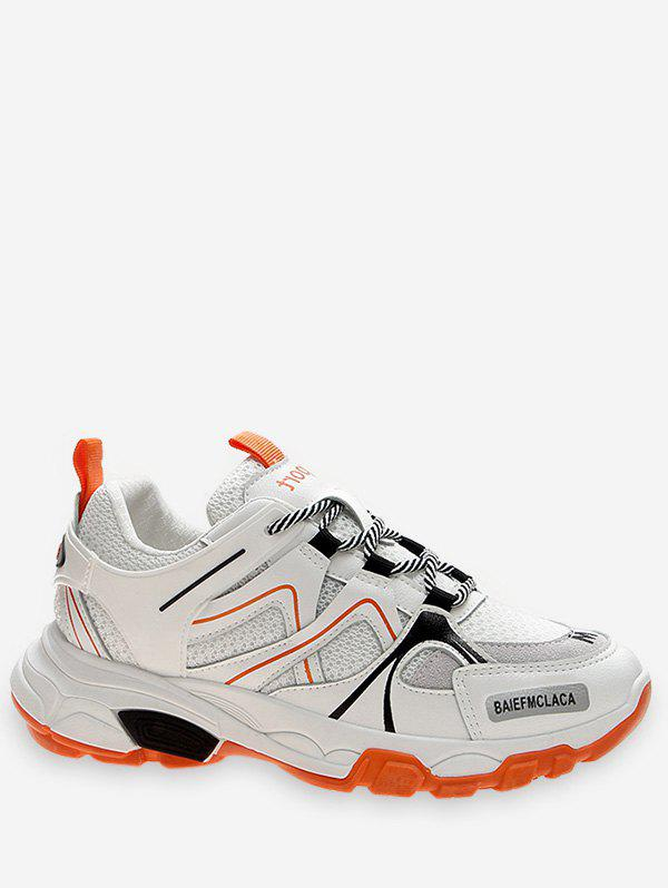 Discount Contrast Color Breathable Sport Sneakers
