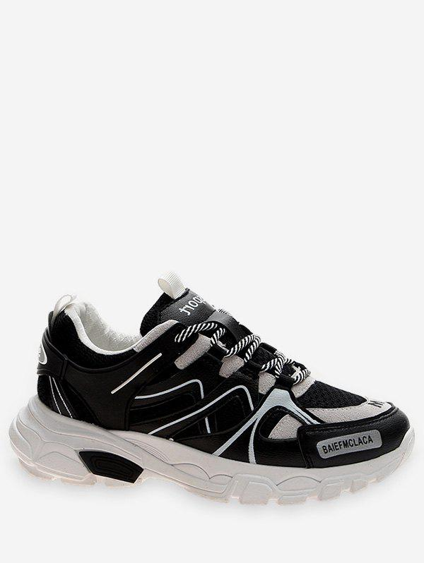 Chic Contrast Color Breathable Sport Sneakers