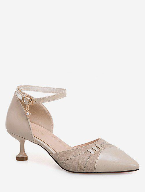 Affordable Pointed Toe Ankle Strap Pumps