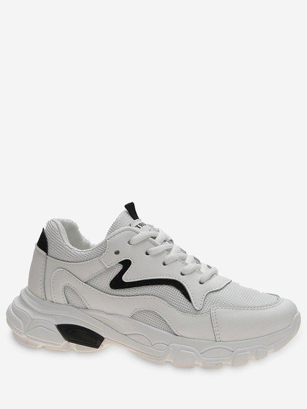 Cheap Contrast Mesh Panel Sport Sneakers