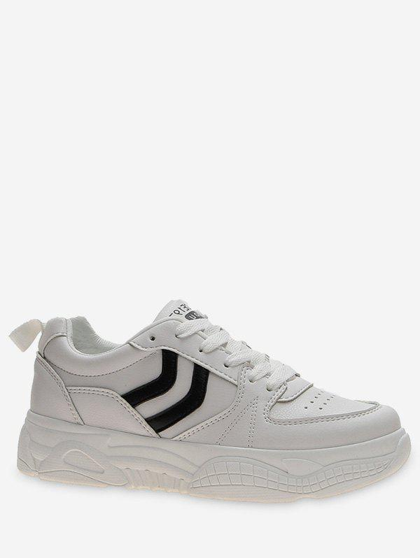 New Chevron Stripe Lacing Skate Shoes
