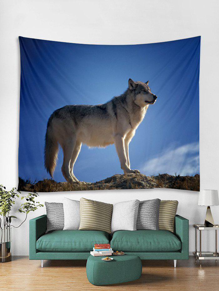 Trendy Wolf Printed Tapestry Art Decoration