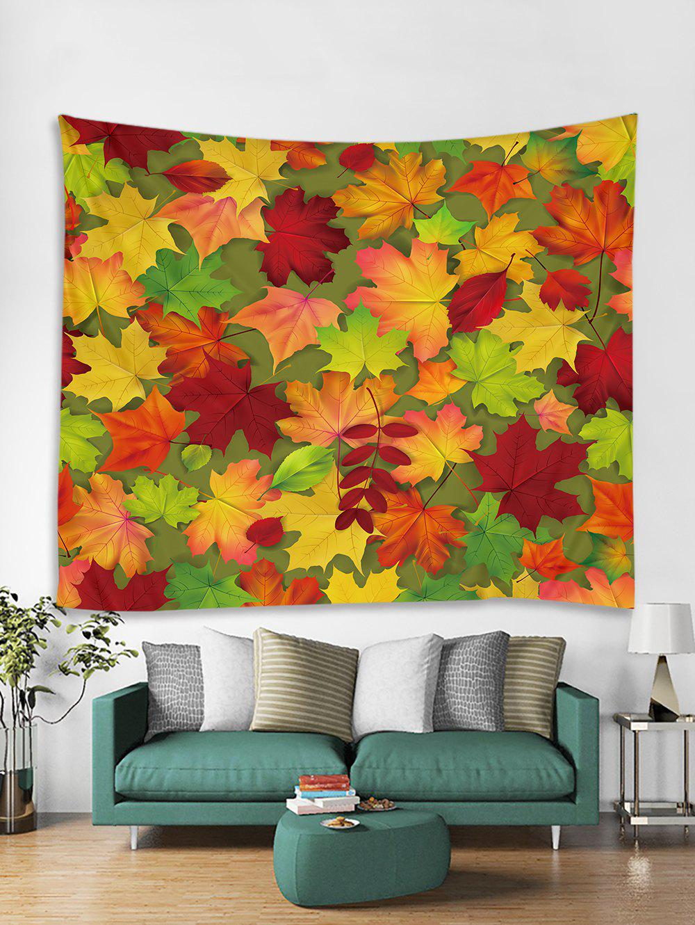Trendy Maple Leaf Printed Tapestry Art Decoration