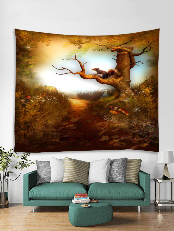 Buy Forest Squirrel Printed Tapestry Art Decoration