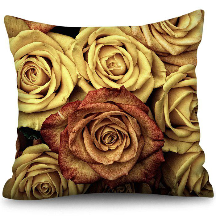 Store Polyester Faux Linen Square Digital Printing Pillowcase Sofa Cushion Cover
