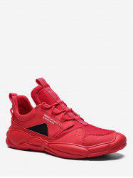 Contrast Triangle Letter Sport Sneakers -