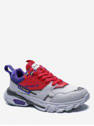 Letter Platform Lace Up Athletic Sneakers -