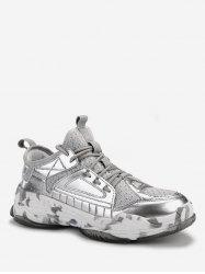 Patent Leather Trim Athletic Sneakers -