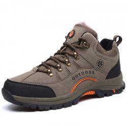 Men Brushed Warmth Skid-resistant Leisure Climbing Boots -