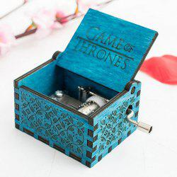 Vintage Delicate Wooden Hand Music Box -