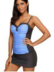 Female Hot Spring Conservative Hanging with Steel Ring Swimsuit -